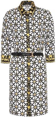 Versace Printed silk-faille shirt