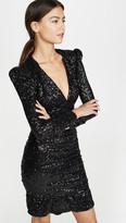 Rebecca Vallance Mona Ruched Sequin Mini Dress
