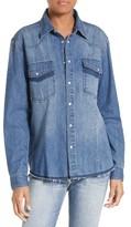 Frame Women's Frayed Denim Shirt