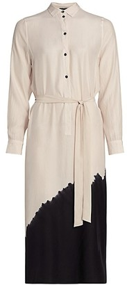 ATM Anthony Thomas Melillo Dip-Dye Silk Asymmetrical Shirtdress