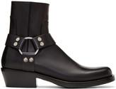 Balenciaga Black Harness Buckle Boots
