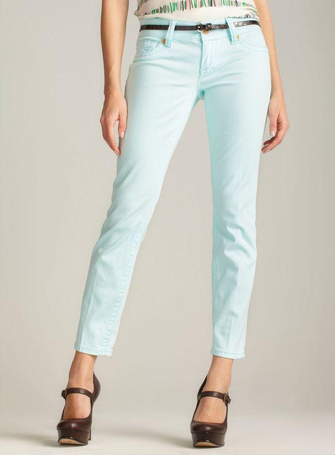 7 For All Mankind Seven7 Roll Cuff Skinny Jean, Light Blue