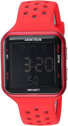 Armitron Sport Unisex 40/8417 Black Accented Digital Chronograph Perforated Silicone Strap Watch