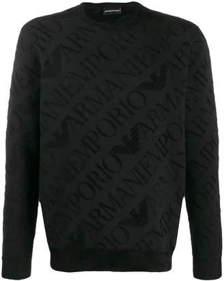 Emporio Armani Eagle jacquard sweatshirt