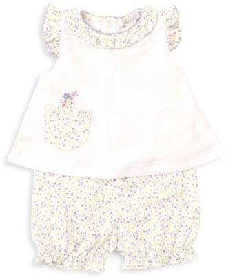Kissy Kissy Baby Girl's Spring Whispers 2-Piece Floral Top & Bloomer Set