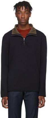 Tiger of Sweden Navy Loge Half-Zip Sweater