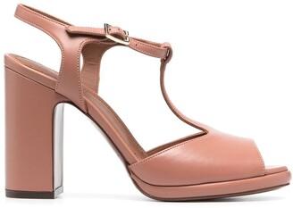 L'Autre Chose T-Strap Block Heel Sandals