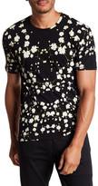 Eleven Paris ELEVENPARIS Flower Print Short Sleeve T-Shirt