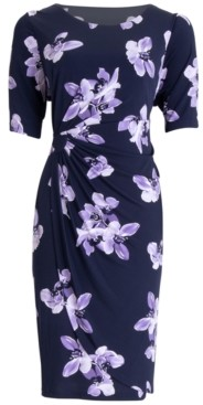 Connected Floral-Print Sheath Dress