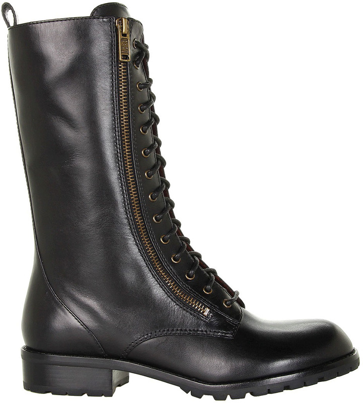 Marc by Marc Jacobs Lace Up Leather Boots