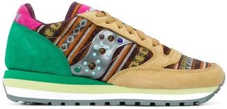 Saucony Geometric-Print Colour-Block Sneakers