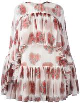 Alexander McQueen poppy print cape dress - women - Silk - 38