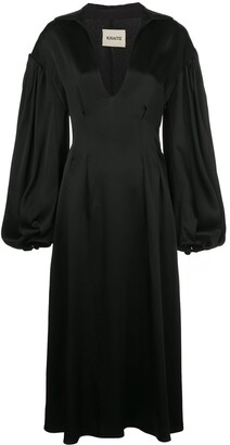 KHAITE Farrely open-collar dress