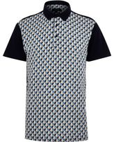 River Island MensNavy retro pattern polo shirt
