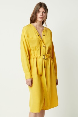 French Connenction Baina Twill Belted Dress