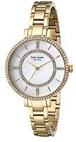 Kate Spade Women's 1YRU0692 Gramercy Gold-Tone Stainless Steel Watch with Link Bracelet
