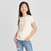 Cat & Jack Girls' Short Sleeve Dog Graphic T-Shirt - Cat & JackTM Cream