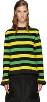 J.W.Anderson Tricolor Striped Bouclé Sweater