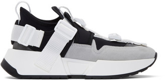 MM6 MAISON MARGIELA Black and Grey Safety Strap Sneakers