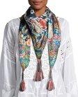 johnny was bekka silk printed scarf