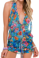 Luli Fama T-Back Mini Dress In Multicolor (L515979)