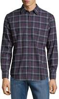 Ben Sherman Men's Plaid Cotton Button-Down Shirt