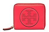 Tory Burch Perforated-Logo Medium Zip Wallet