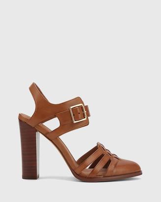 Wittner Winslow Leather Almond Toe Block Heels