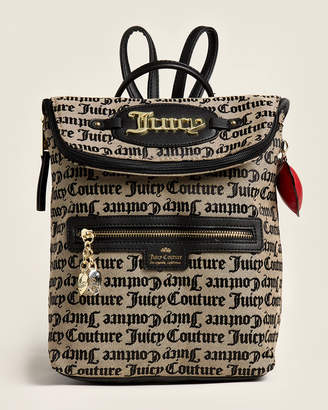 Juicy Couture Beige & Black Gothic Bold Move Backpack