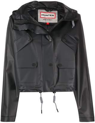 Hunter Short Hooded Biker Jacket