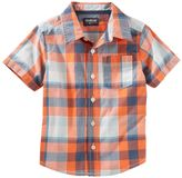 Osh Kosh Toddler Boy Plaid Short-Sleeved Woven Top