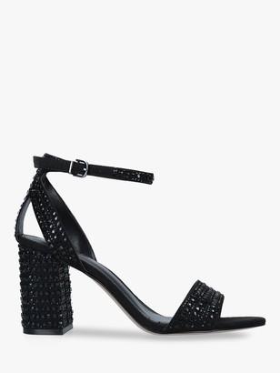 Carvela Kianni Stud Jewelled Block Heel Sandals, Black