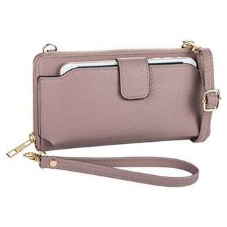 Heaye Wristlet Wallet with Cell Phone Holder Crossbody Phone bag Women Wallet ()