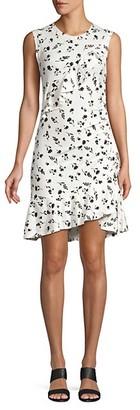 Parker Francie Asymmetric Ruffle Dress