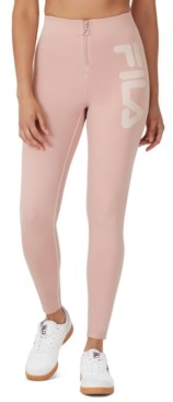 Fila Harleen Zip-Front Logo Leggings