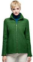Lands' End Women's Tall Boiled Wool Jacket-Washed Cobalt