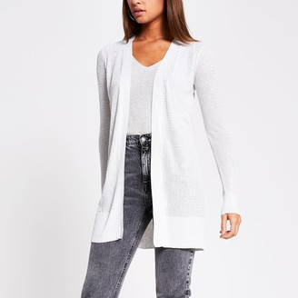 River Island Womens Silver diamante knitted cardigan