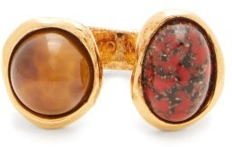 Loewe Cabochon Open Ring - Womens - Red