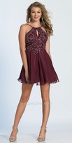 Dave and Johnny Keyhole Spaghetti Strap Rhinestone Embellished Cocktail Dress