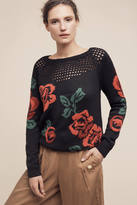 Plenty by Tracy Reese Knitted Rose Sweater