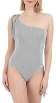 Pique Pinstripe One-Piece Swimsuit