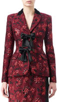 Altuzarra Angela Floral Jacquard Jacket with Satin Bows