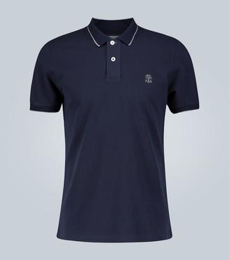 Brunello Cucinelli Slim-fit cotton polo shirt