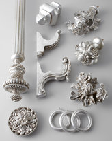 """Horchow Two Silver-Leaf-Finished """"Italian Renaissance"""" Finials"""