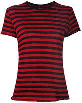 Amiri - striped T-shirt - women - Cotton/Cashmere - M