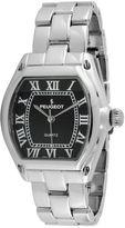 Peugeot Women's Silver Tone Black Dial Tank Roman Numeral Bracelet Watch