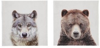 Signature Design by Ashley Albert Wolf/Bear Youth Wall Art - Set of 2