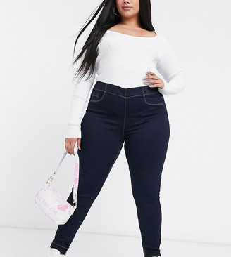 Yours super skinny jeans in indigo