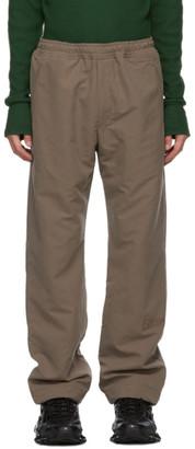 Serapis Beige Nylon Logo Track Pants