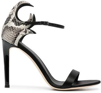 Giuseppe Zanotti Nyco snakeskin print sandals